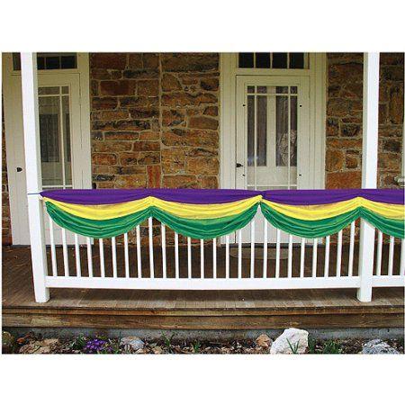 Mardi Gras Fabric Bunting, Green
