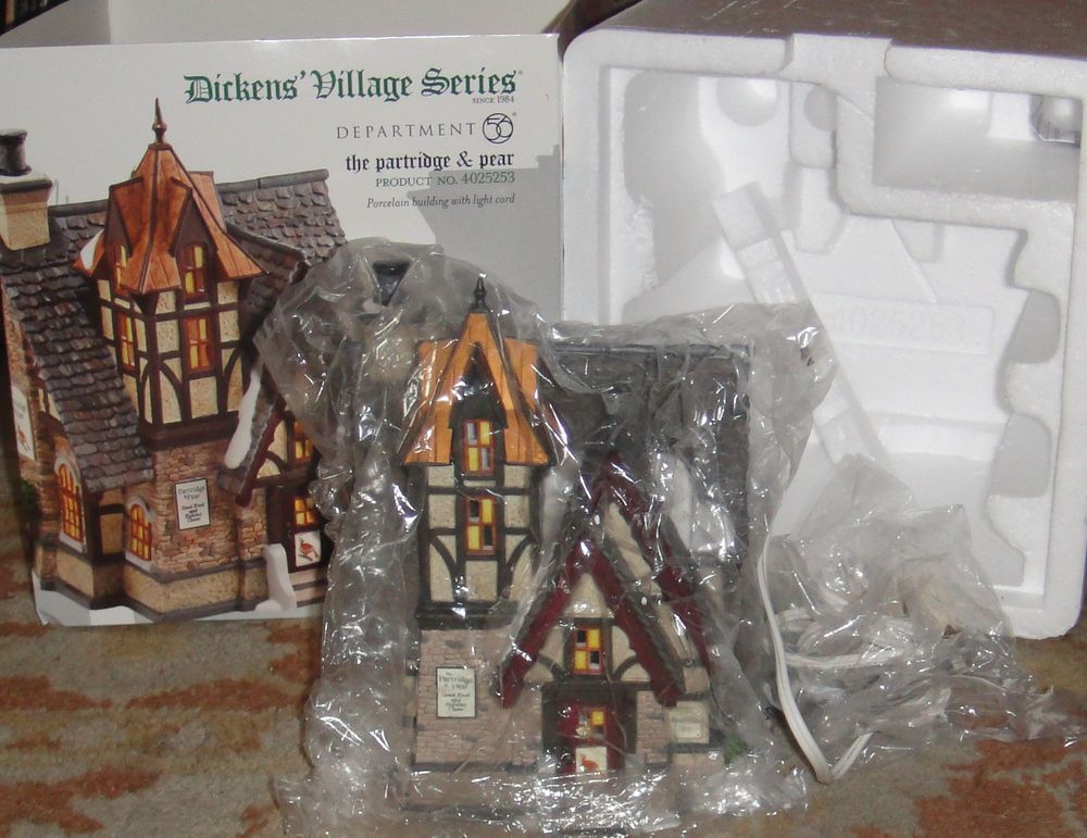 Department 56 Dickens Village The Partridge & Pear 4025253 With Cord Restaurant