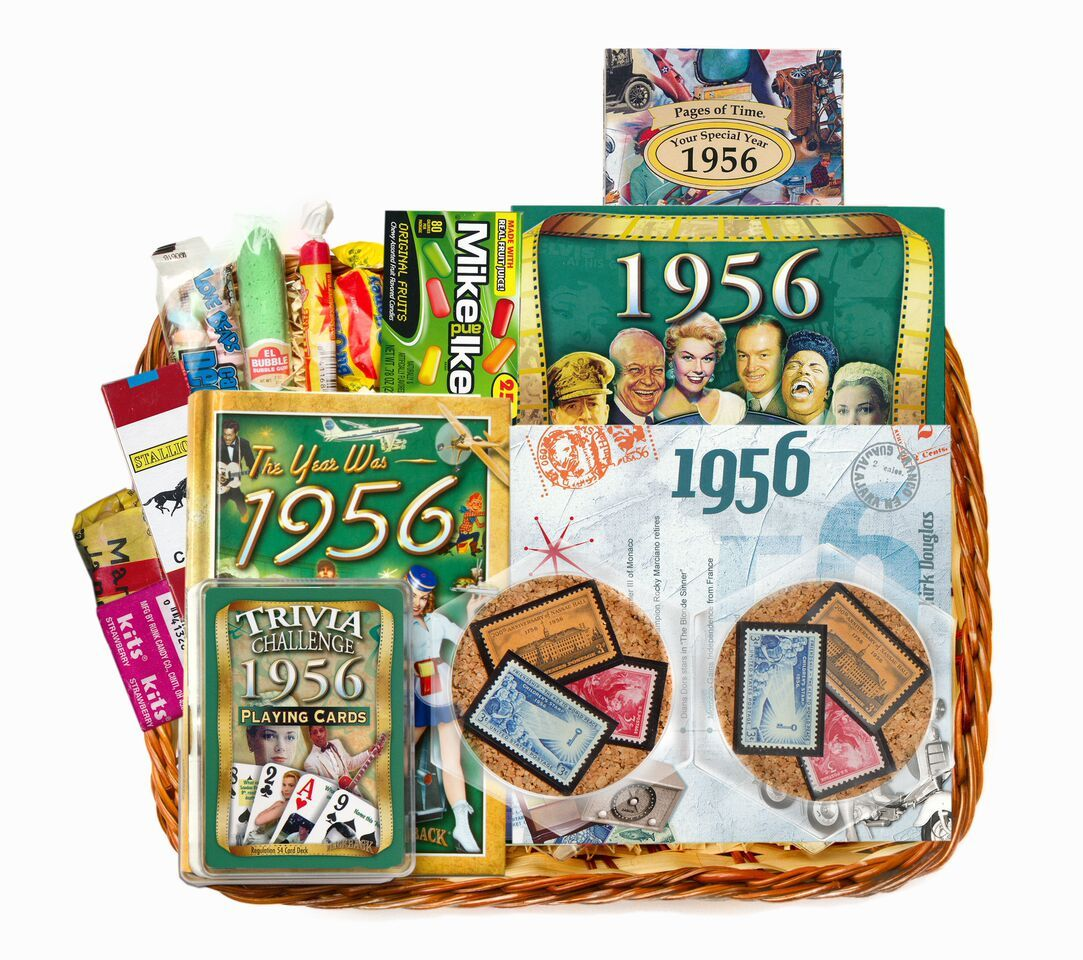 Games for Senior Citizens Anniversary gift baskets, 60th