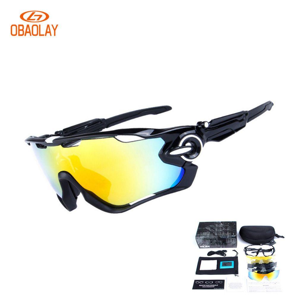 2eceed0b7fdc5 OBAOLAY Polarized Bicycle glasses Mans 5Lens Cycling Sunglasses Mountain  Bike Goggles Sport Eyewear Cycling MTB oculos