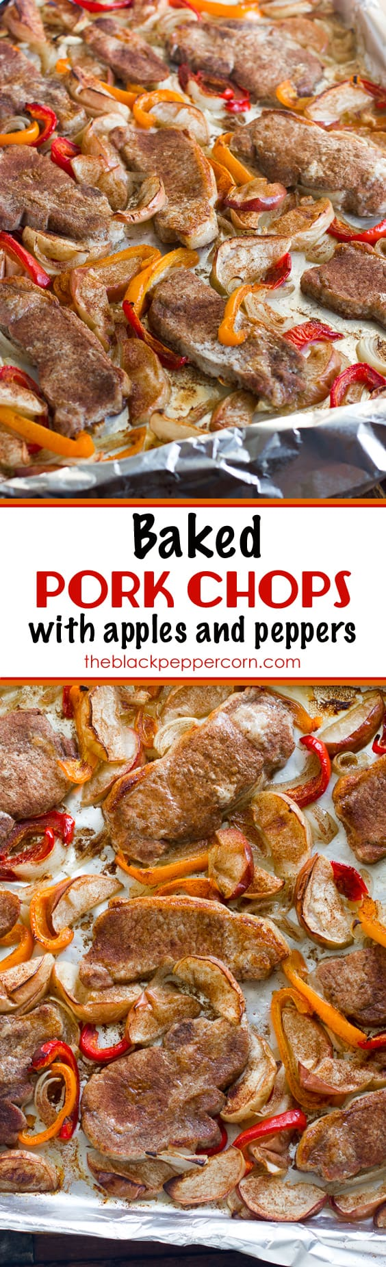Baked pork chops with apples and peppers recipe how to cook pork baked pork chops with apples and peppers recipe how to cook pork chops bone in or boneless in the oven bake these centre cut loin pork chops with ccuart Image collections
