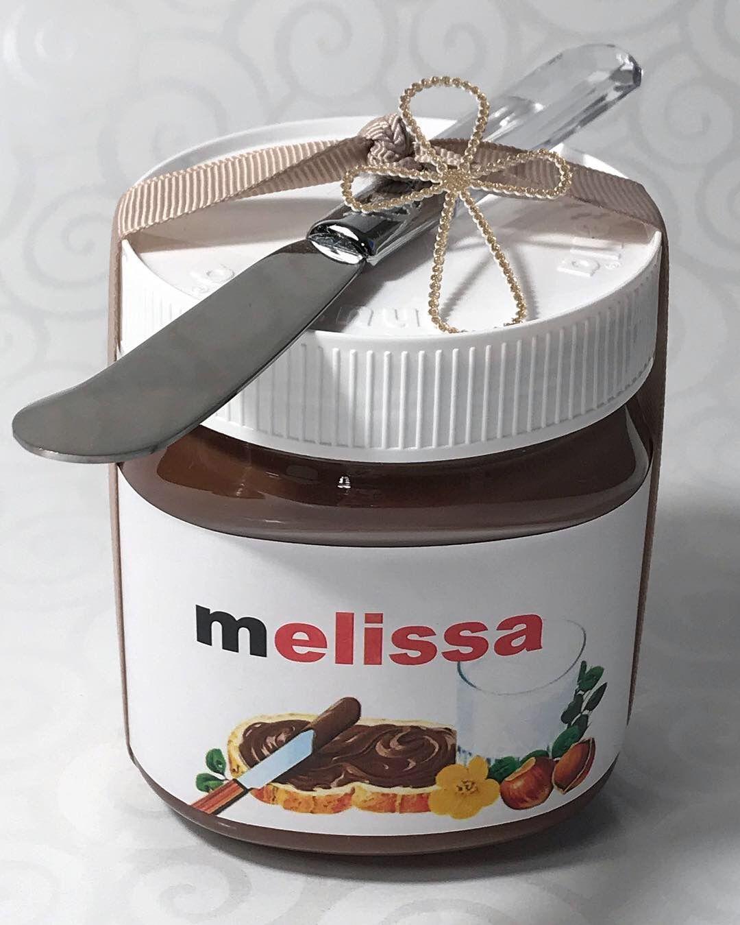 Nutella Party Favor Nutella Label Nutella Tag Personalized Nutella Jar Personalised Nutella Jar Nutella Jar Nutella Label