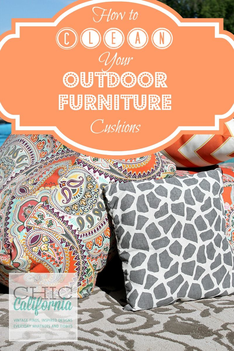 Clean Outdoor Furniture Cushions Food