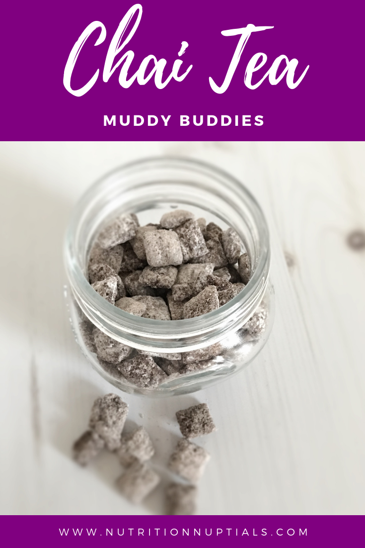 Chai Tea Muddy Buddies Easy Homemade Gift Food Movement Recipe Food Gifts Easy Homemade Tea Recipes