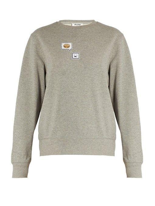 ACNE STUDIOS Carly Emoji Round-Neck Sweatshirt. #acnestudios #cloth #sweatshirt