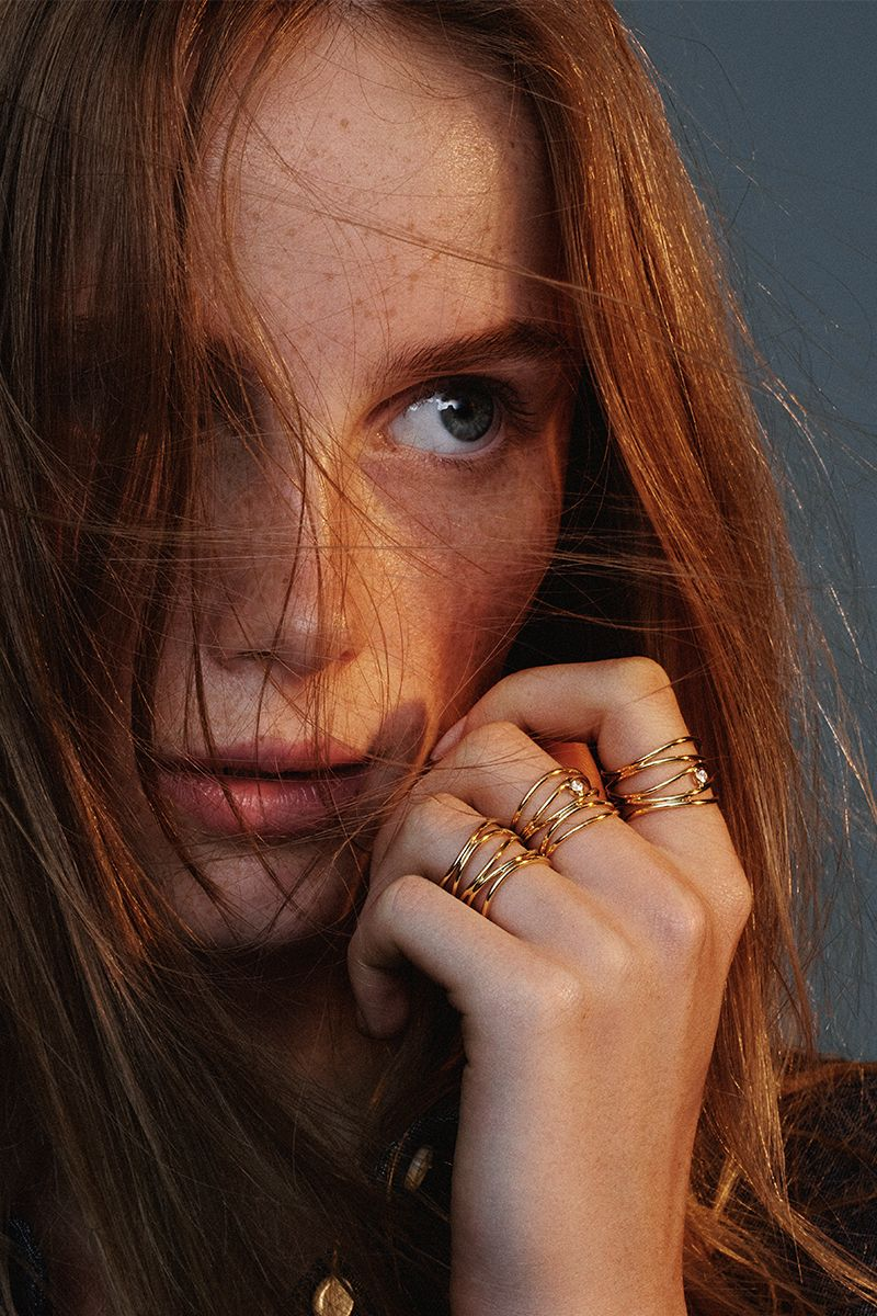 12beac0812ed2 All of Tiffany's 18k gold designs—like Elsa Peretti® Wave rings—have ...
