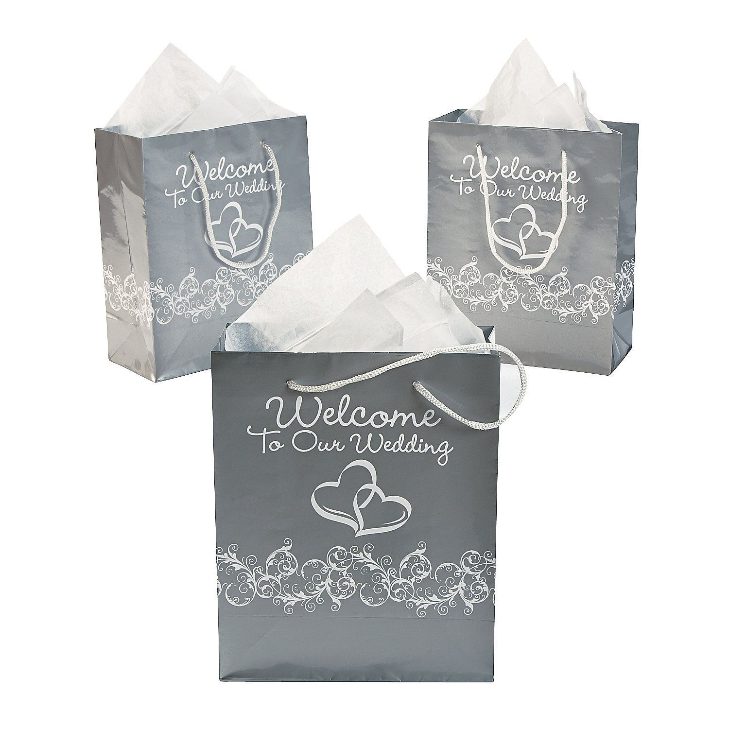 Two Hearts Welcome To Our Wedding Gift Bags