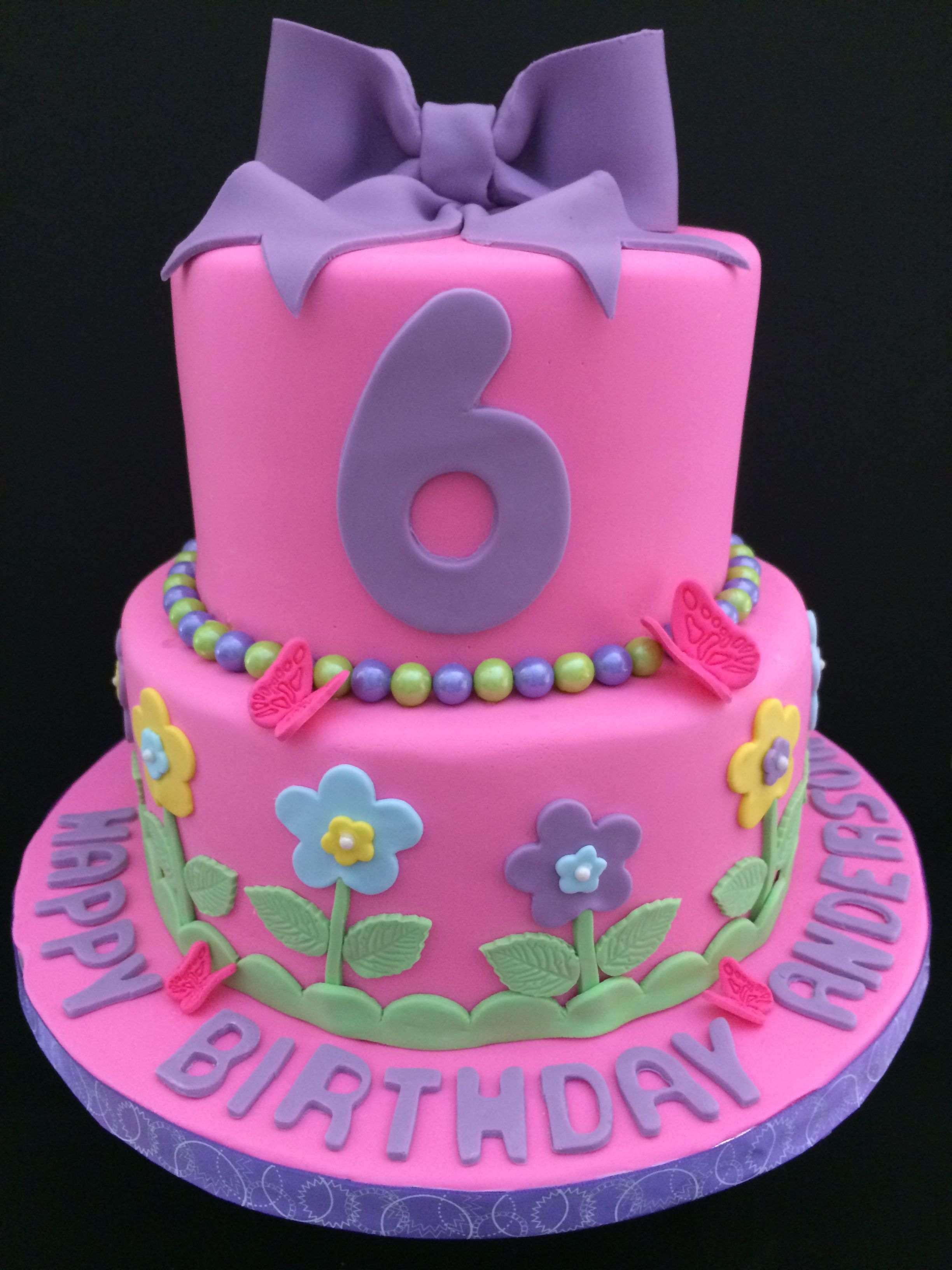 Birthday Cake For A 6 Year Old Girl 6th Birthday Cakes Pink