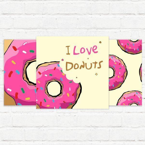 Placas Decorativas Donuts - AdsiveShop