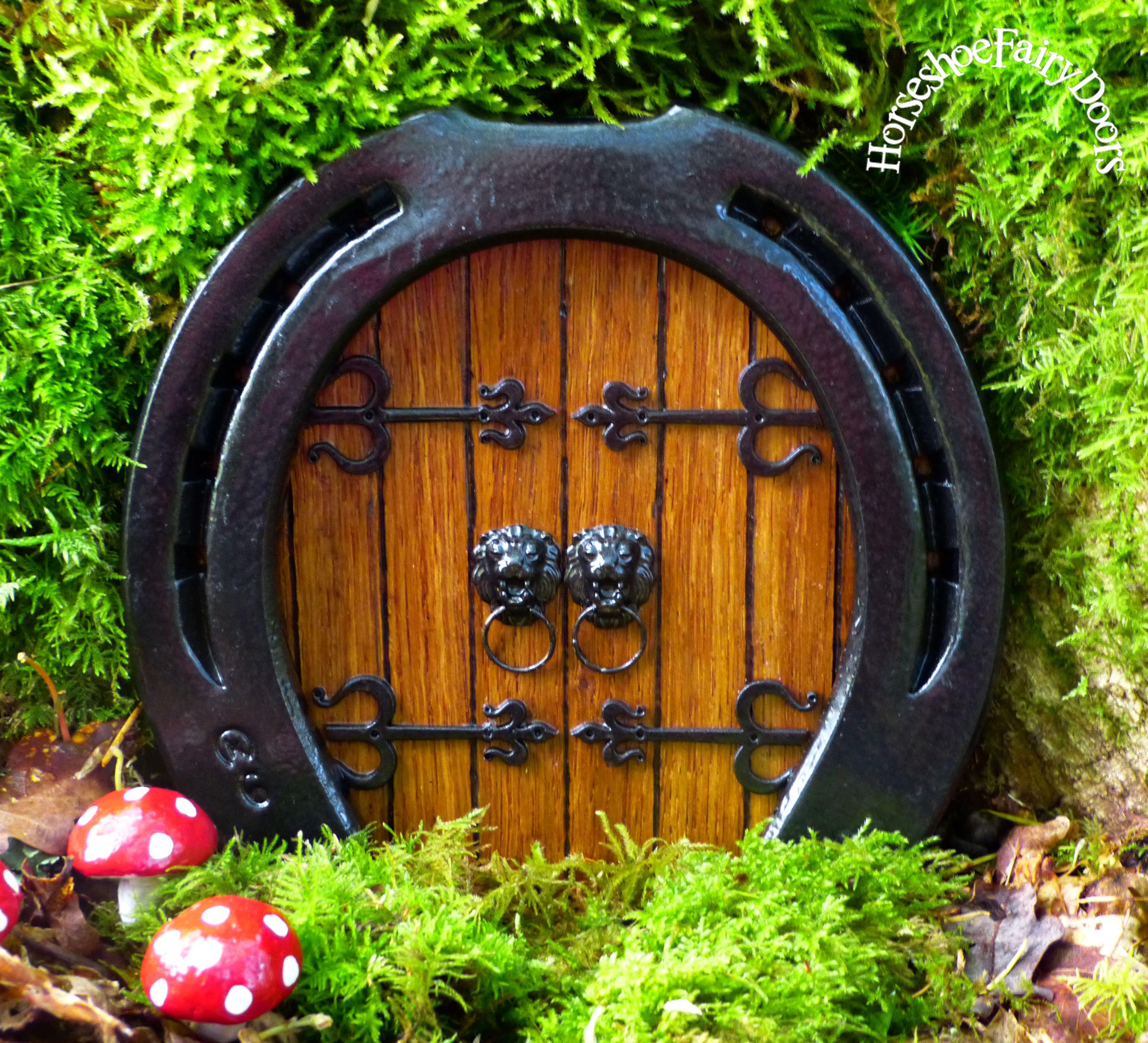 Horseshoe Fairy Door Hobbit Door Elf Pixie Garden Ornament