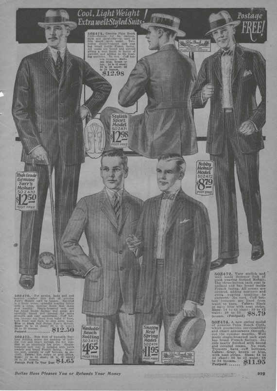 1925 Mens Fashion Catalog 1920s ClothingVintage