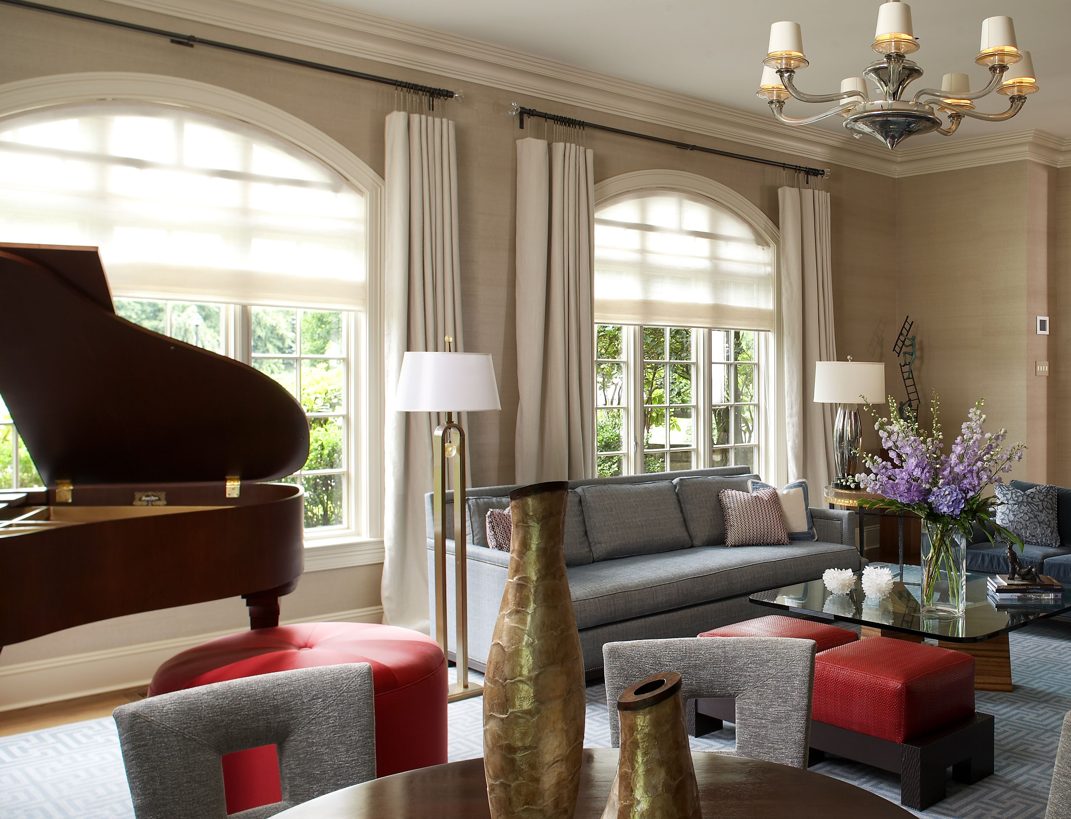 Living room sandra oster interiors westchester county luxurious interior design by asid for Award winning living room designs