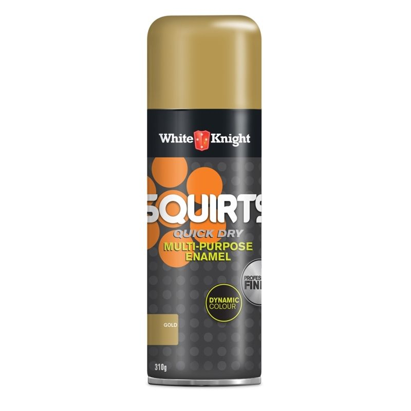 Find White Knight Squirts Spray Paint 310g Gold at Bunnings ...