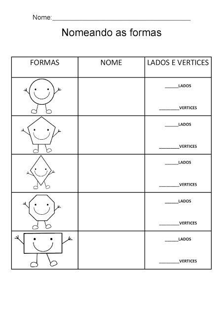 Formas Geometricas Atividades Adriana Nome Das Formas