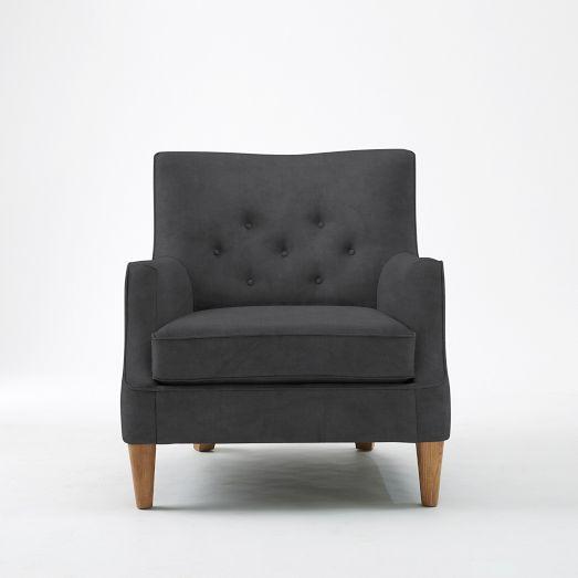 Livingston Chair, Poly, Linen Weave, Platinum/Ecru