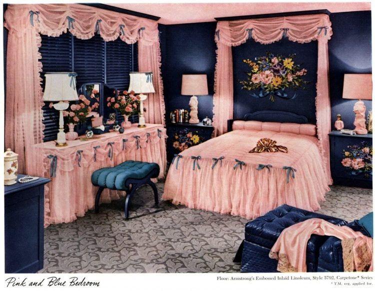 Glam 1940s interior design 5 before & after bedroom