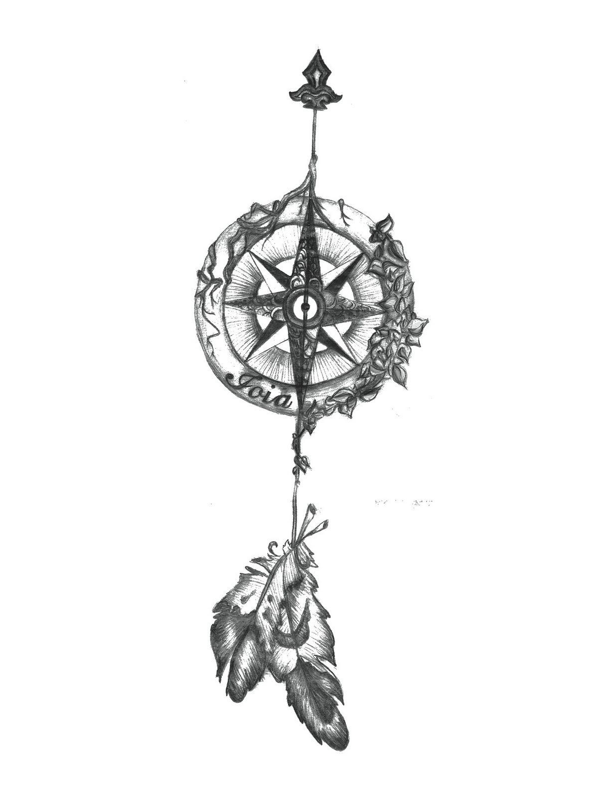 18++ Best Compass arrow tattoo stencil ideas in 2021