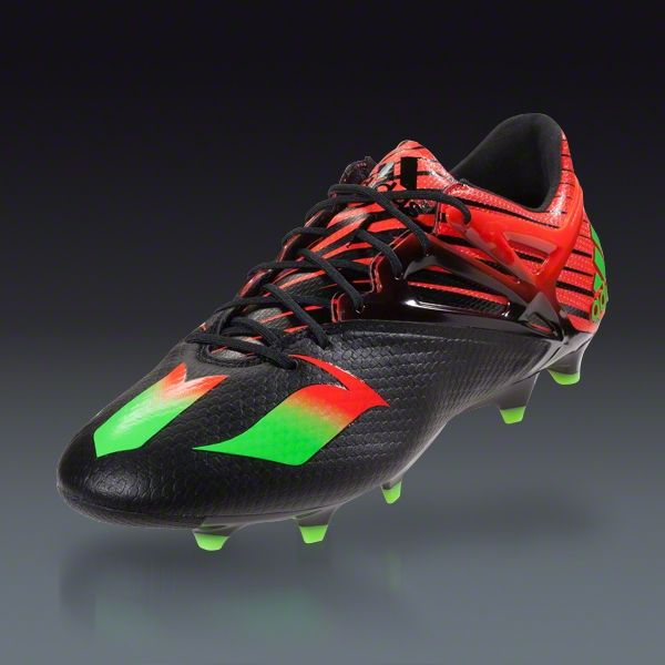 7e448a2ee0b Buy adidas MESSI 15.1 FG AG - Black Solar Green Solar Red Firm Ground  Soccer Cleats on SOCCER.COM. Best Price Guaranteed. Shop for all your  soccer equipment ...