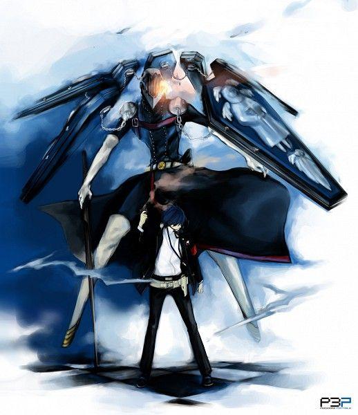Persona 3 Minato Makoto And Thanatos Persona Persona