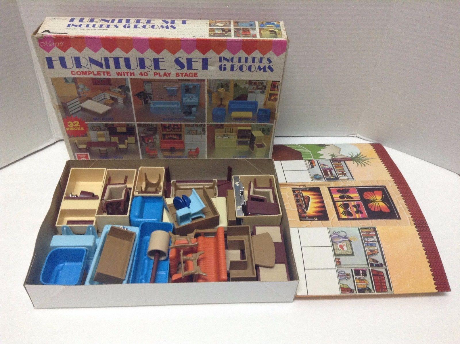 plastic dollhouse furniture sets. vintage retro merryu0027s toys arco plastic dollhouse furniture hong kong kmart sets i
