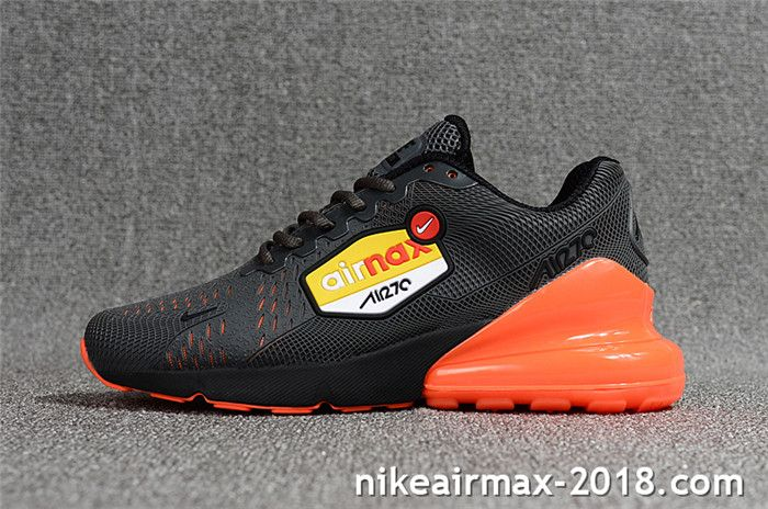 d4c82e892810 Popular Nike Air Max 270 Mens Sneaker For Sale Gray Orange