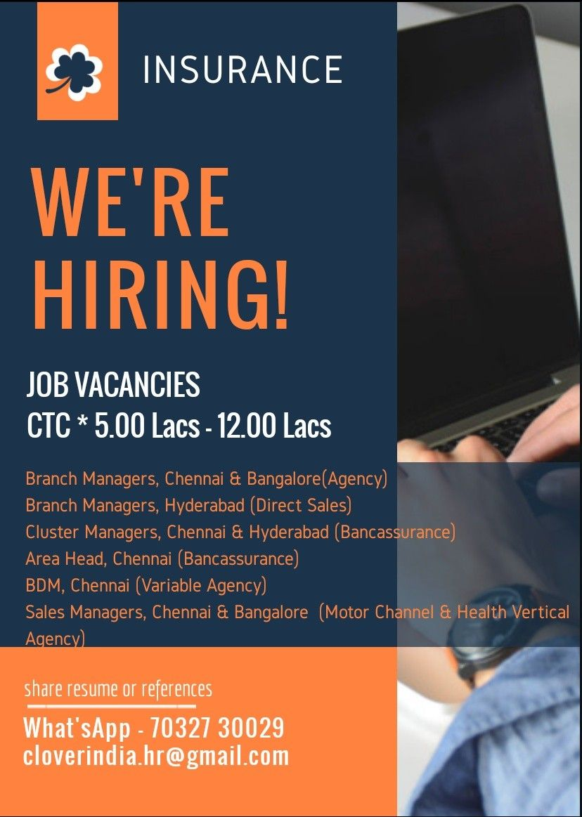 Hiring Teamhandling Insurance South Cloverindiahr Job