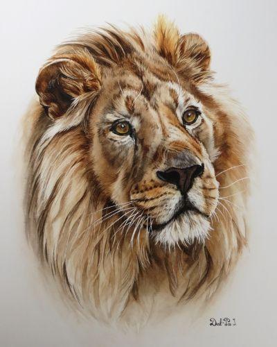 Resultat De Recherche D Images Pour Lion Aquarelle Peinture De