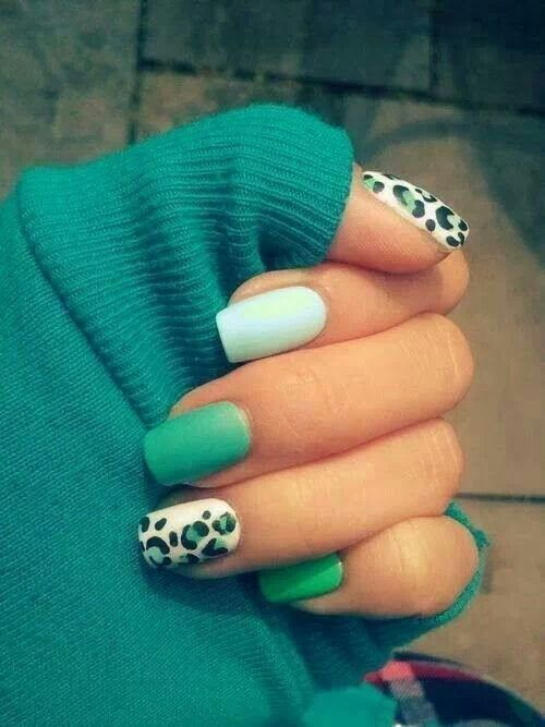 hate animal print but still love these nails