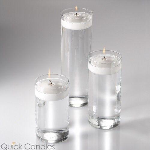 Eastland Cylinder Floating Candle Holders 75 9 105 Set Of 3