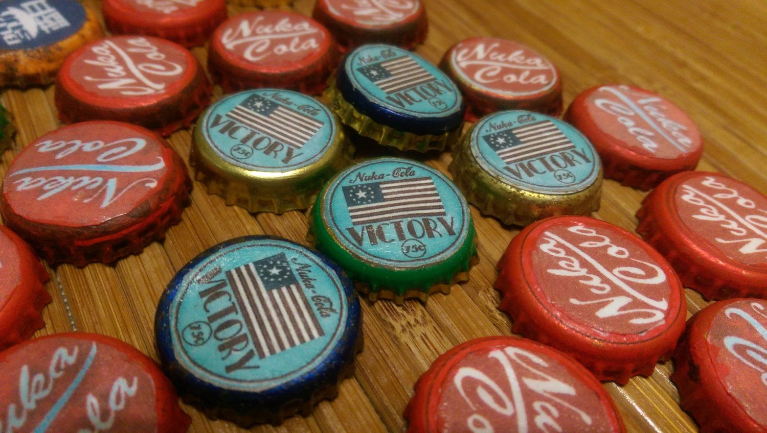10 fallout inspired nuka cola victory bottle caps fallout 4 fallout