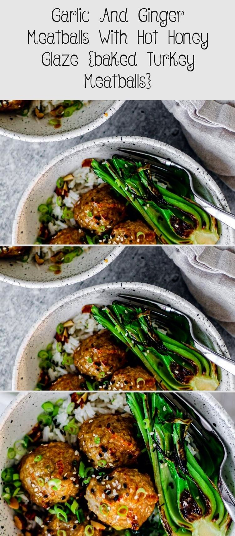and Ginger Meatballs with Hot Honey Glaze {Baked Turkey Meatballs}Garlic and Ginger Meatballs with