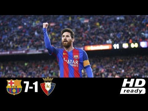 Barcelona Vs Osasuna 7 1 Goals Highlights And Full Match La Liga