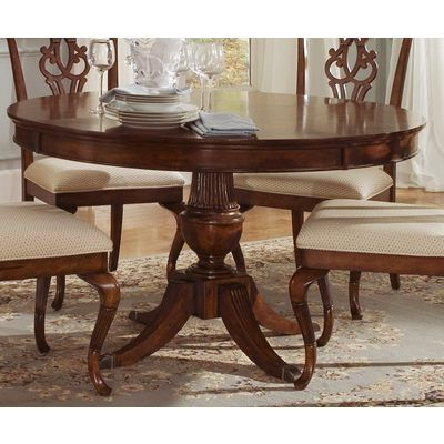 Liberty Furniture Ansley Manor 52 Inch Round Dining Table In Cherry Medium Wood Round Dining Room Sets Dining Room Table Set Dining Room Sets