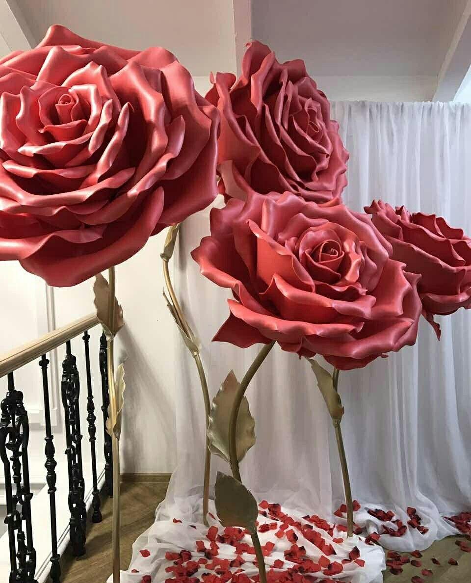 Pin By Dalia Elgazzar On Bolshie Cvety Large Paper Flowers Giant Flowers Paper Flowers