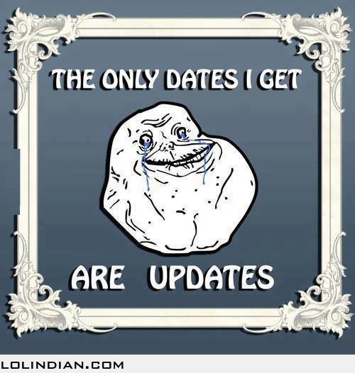 The only dates i ever get are updates