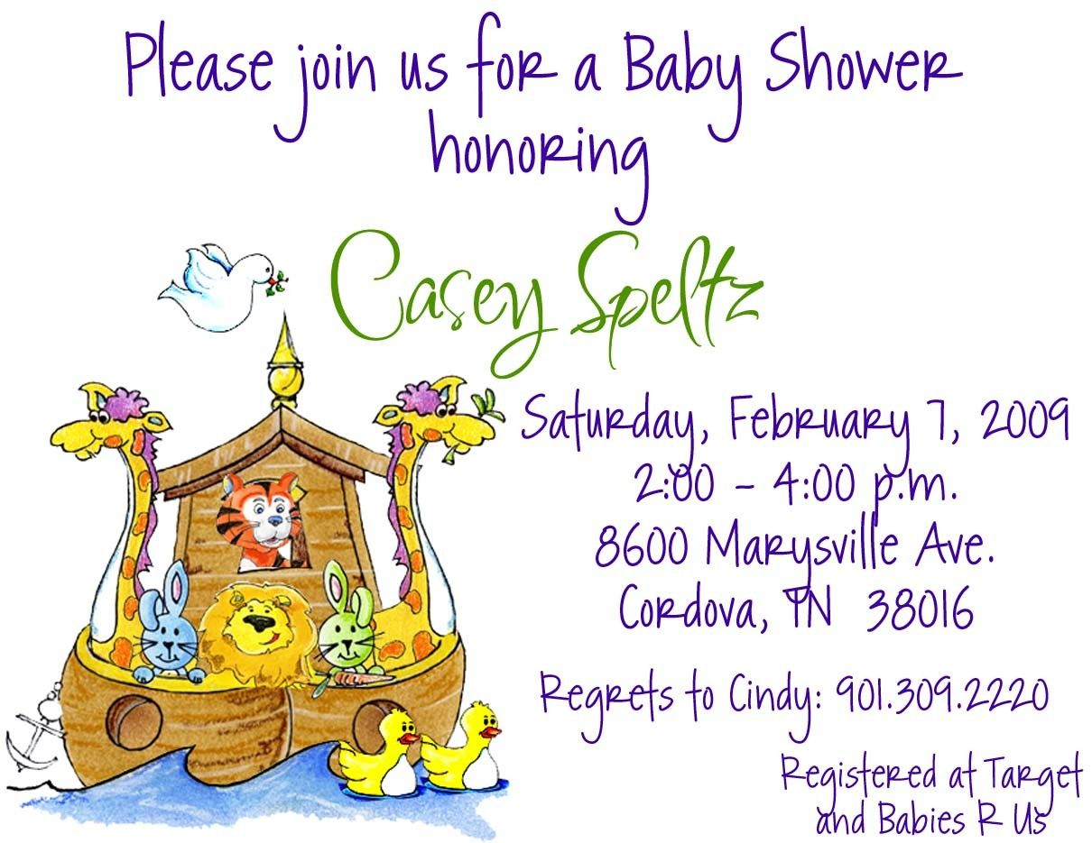Noah\'s Ark Baby Shower or Birthday Invitation // Printed or ...