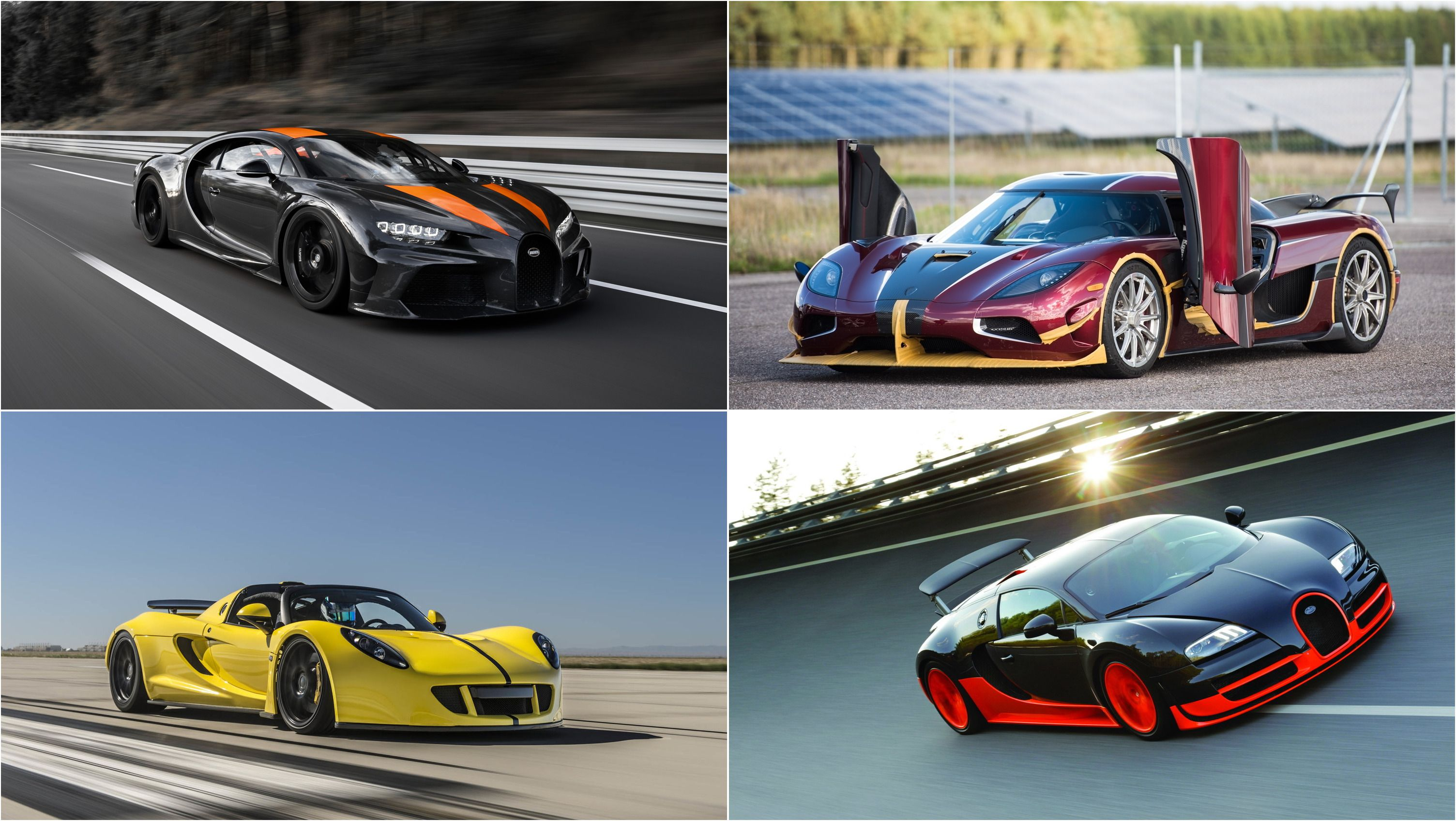 10 Fastest Cars In The World Ranked Fastest To Slowest Top Speed In 2020 Car In The World Fast Cars Bugatti Veyron Super Sport