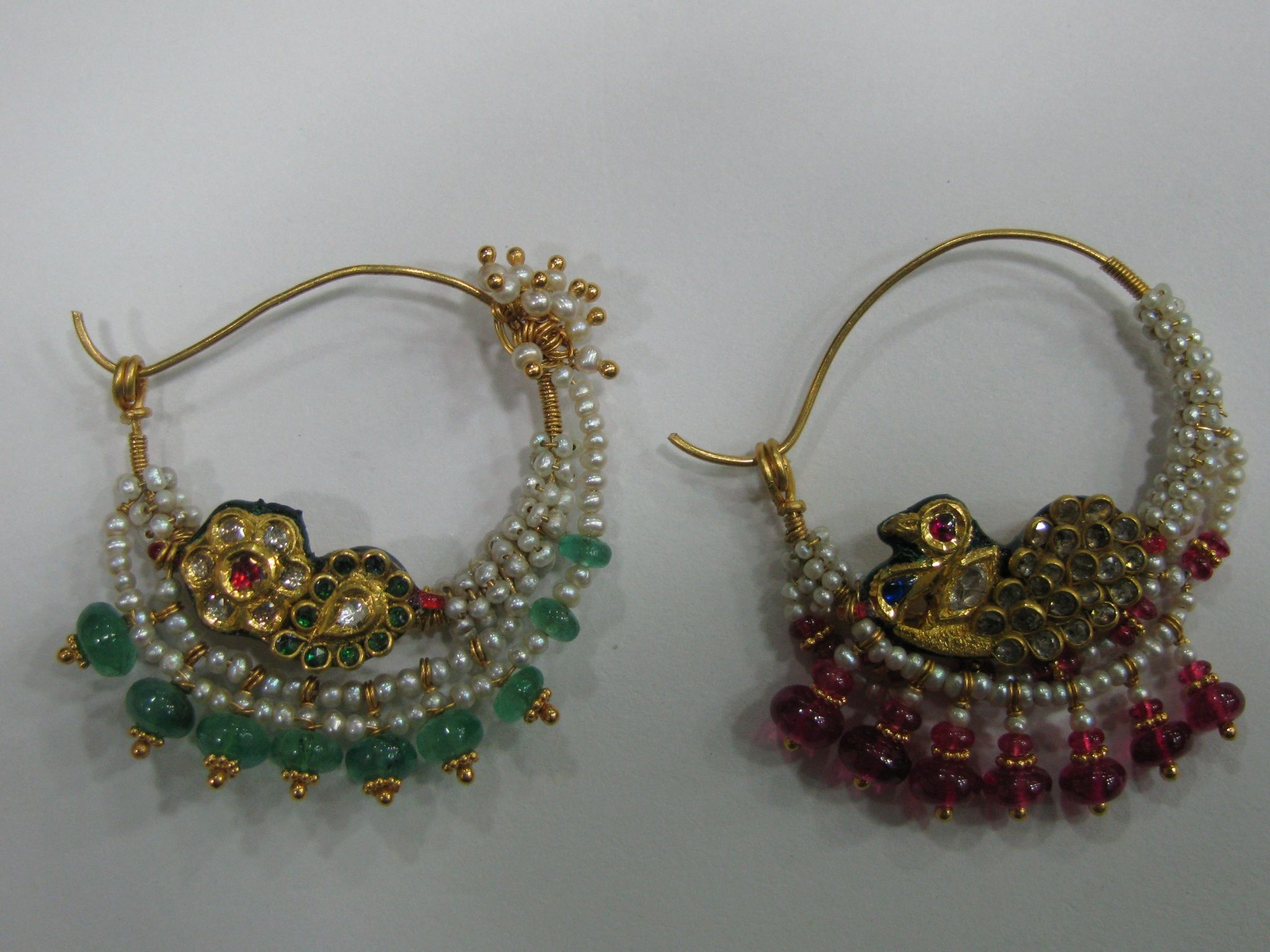 About nath nose ring mukku pudaka on pinterest jewellery gold nose - Amazing Old Basra Pearls Indian Traditional Nose Rings