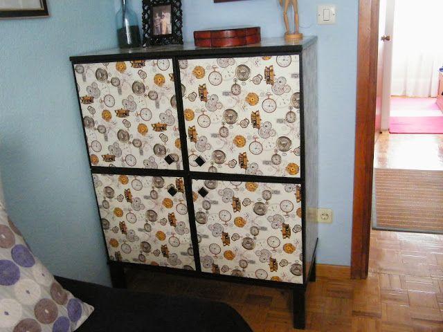 Un mueble sin nombre transformado con papel de regalo - Papel decorativo para muebles ...