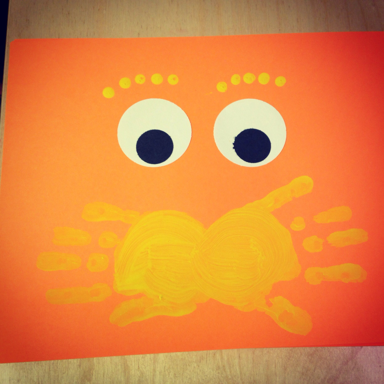 The Lorax Handprint Craft