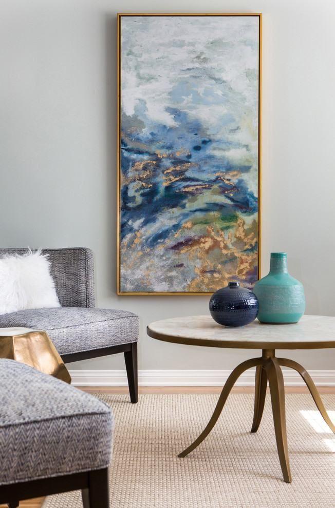 Quadro abstrato sala de estar 3 decora o escritorio for Idea de pintura de corredor