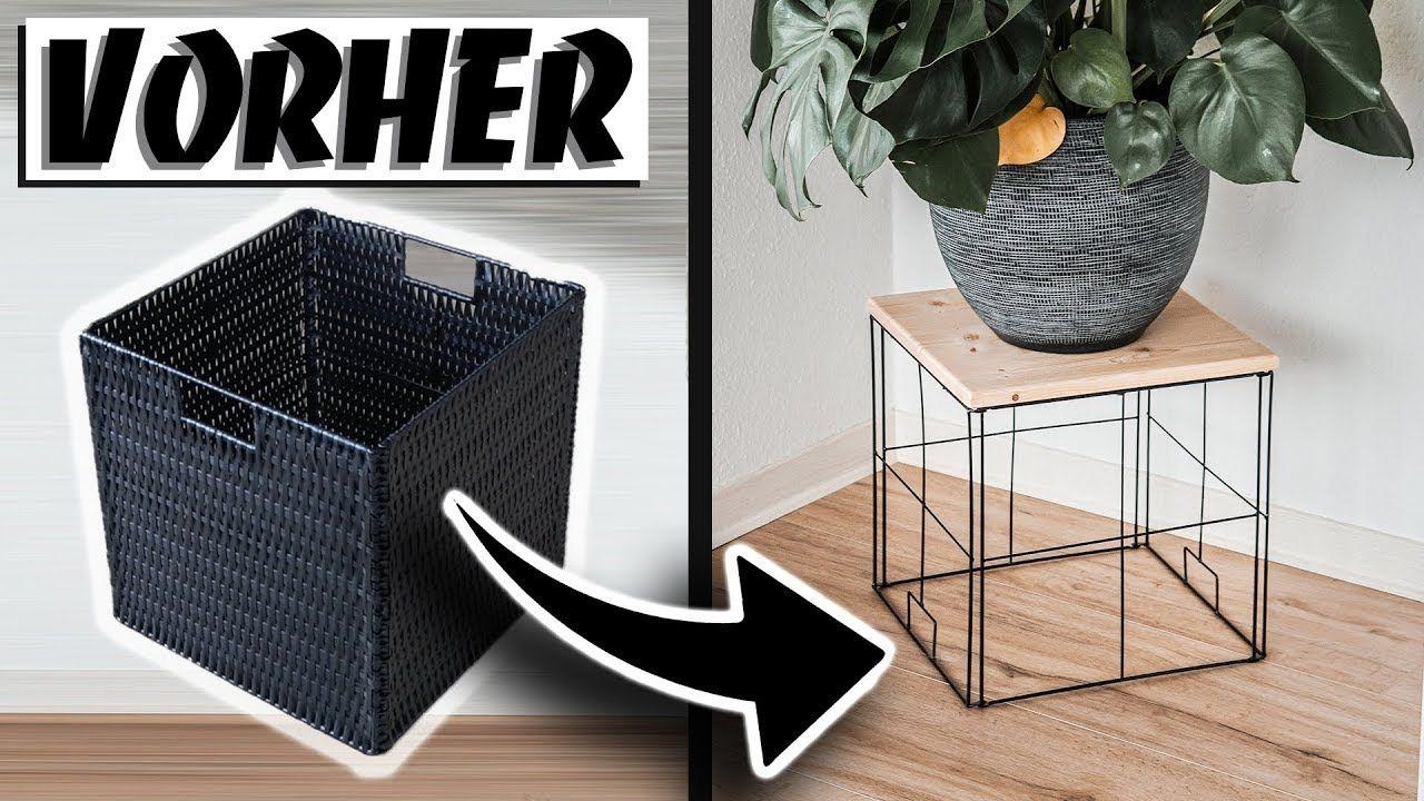 ikea upcycling kleiner tisch aus kallax korb easy alex. Black Bedroom Furniture Sets. Home Design Ideas