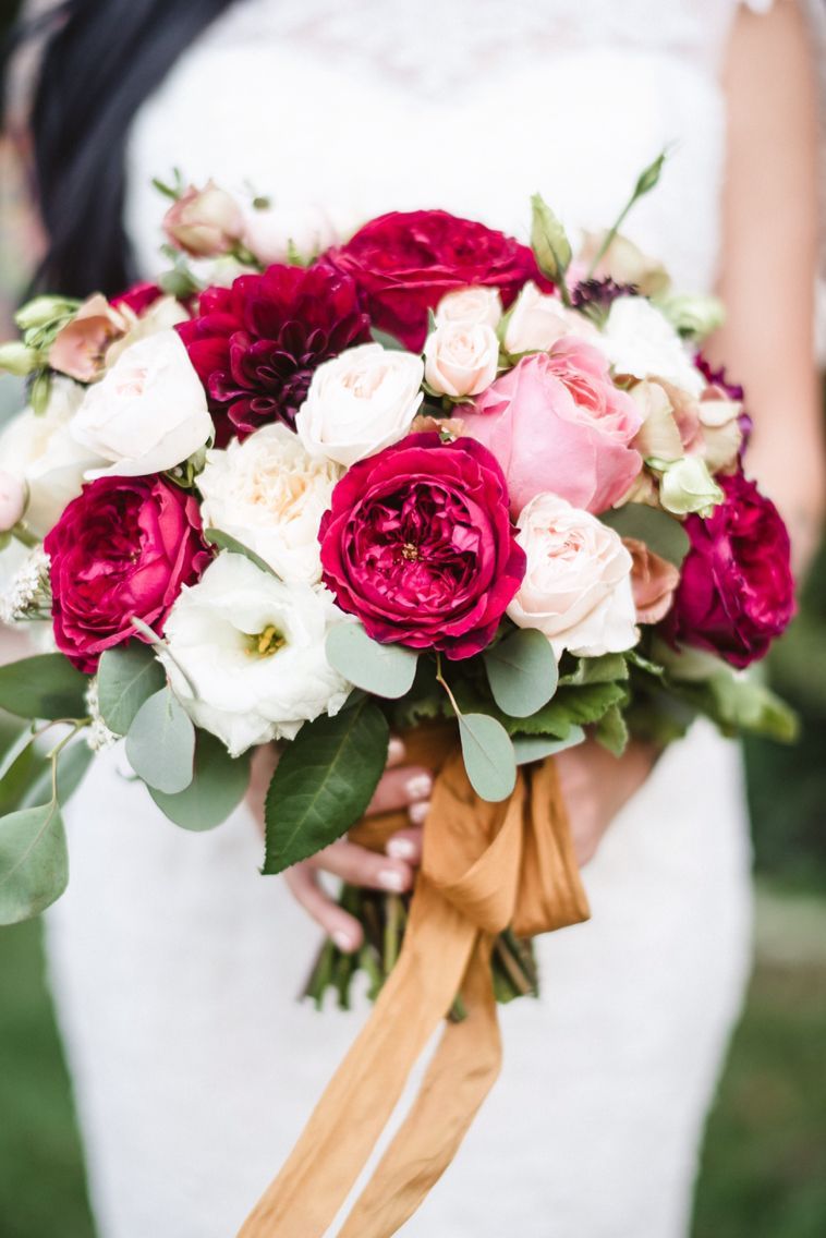 Red Cranberry Ivory Blush Pink Bouquet Wedding Bouquets Pink Gold Wedding Flowers Bridal Bouquet Pink