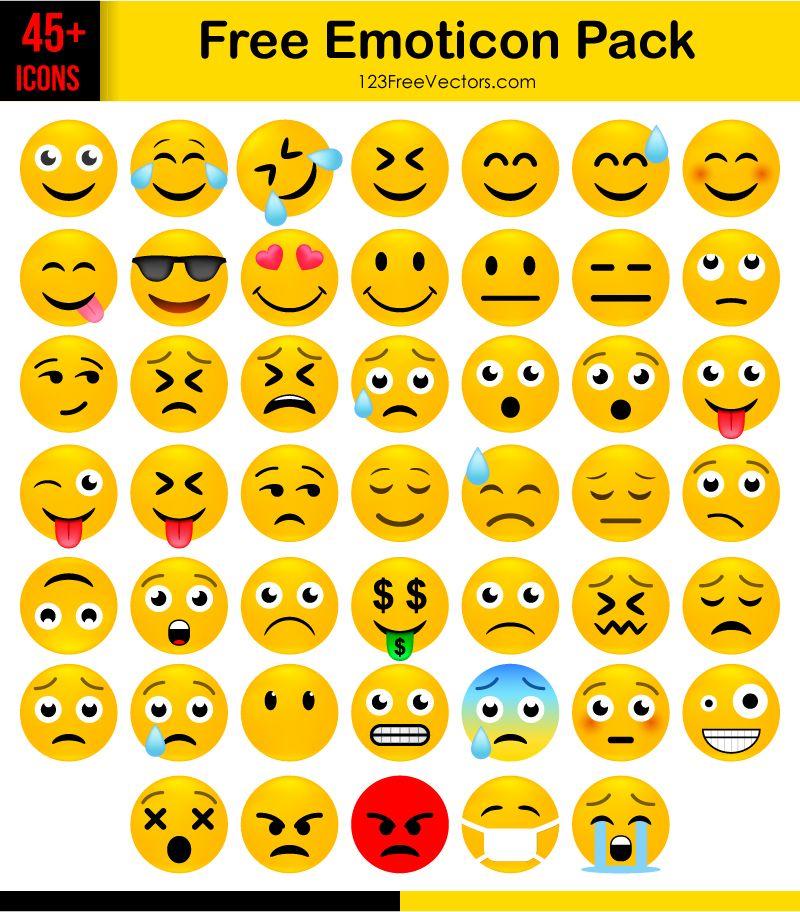 Free Emoticon Icons Pack Download Free emoji, Emoji