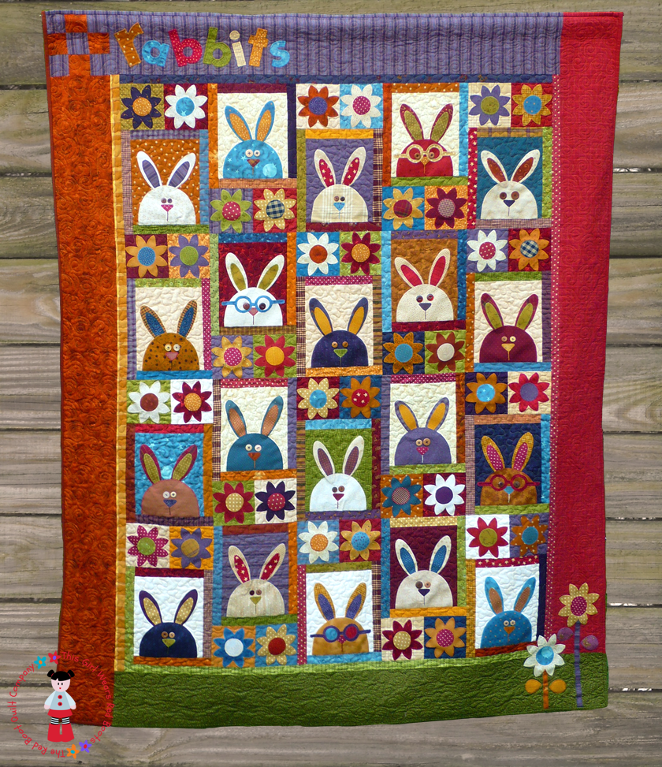 """The Rabbits at Hyde Park"" by the Red Boot Quilt Company (from Craftsy)"