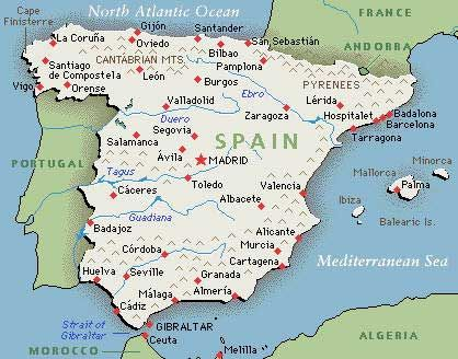 Map of Spain Travel Pinterest Spain Camino de Santiago and