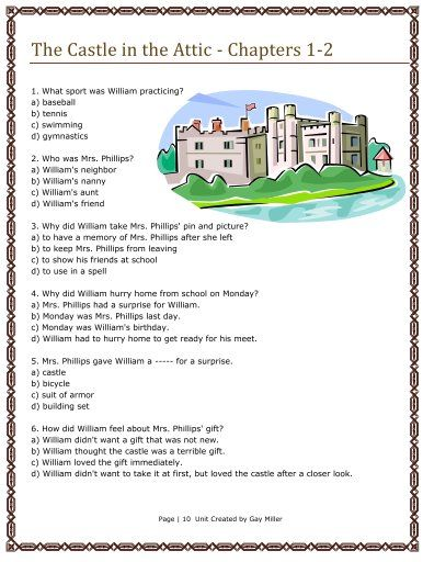 Free resources to use with the castle in the attic great books for free resources to use with the castle in the attic fandeluxe Images