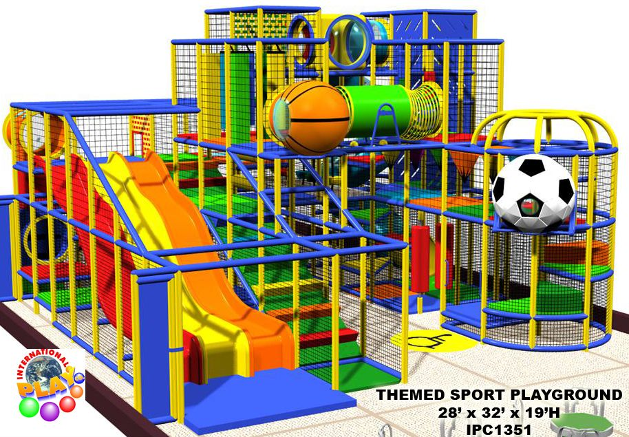 Soft contained play area sport themed by iplayco www for Indoor playground design ideas