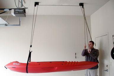 Kayak Ceiling Hoist Boat Storage Rack Hi Lift With Images