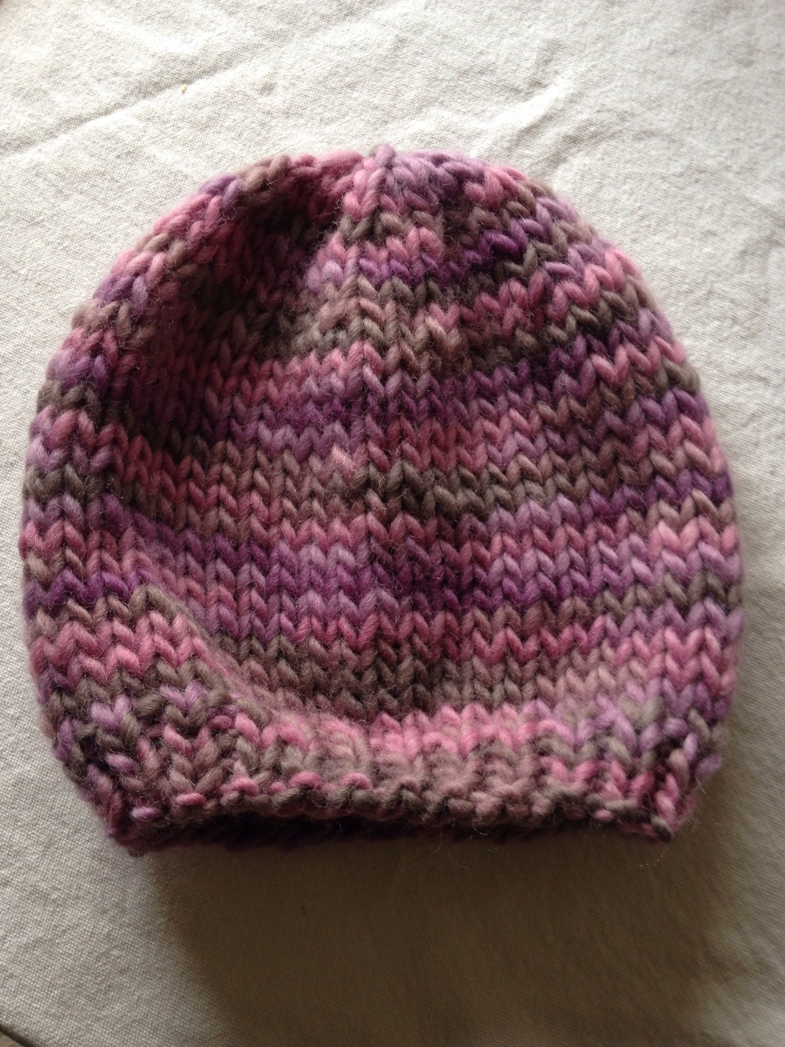 Super chunky hat knitted with Drops Eskimo print 100% wool. I d since added  a Pom Pom. 6e18fe819ed